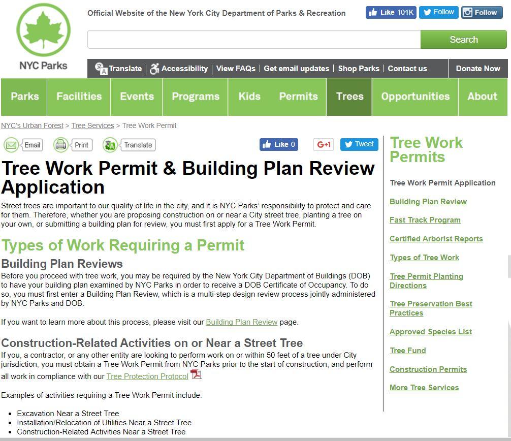 Tree Service Permit Information